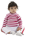 Portrait of a Cute Baby Girl Stock Image