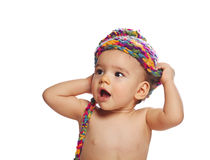 Portrait of cute baby girl Royalty Free Stock Photography