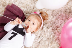 Portrait of a cute baby girl Royalty Free Stock Photos