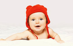 Portrait of cute baby in hat Royalty Free Stock Images