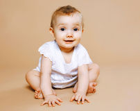 Portrait cute baby. Look on the camera Stock Photography