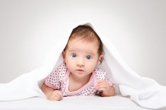 Portrait of a cute baby Stock Photos