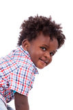 Portrait of a cute black baby boy Royalty Free Stock Image