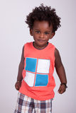 Portrait of a cute black baby boy Stock Photos