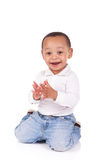 Portrait of a cute black baby boy Stock Photography