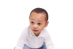 Portrait of a cute black baby boy Royalty Free Stock Images