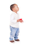 Portrait of a cute black baby boy. Isolated Stock Photos
