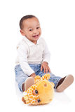 Portrait of a cute black baby boy Royalty Free Stock Photos