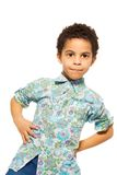 Portrait of cute black boy Royalty Free Stock Image