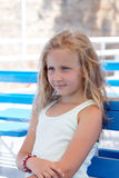 Portrait of a cute blond girl Royalty Free Stock Photos