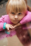 Portrait of cute blond girl stock image