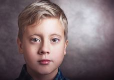Portrait of a cute boy royalty free stock images