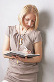 Portrait of cute blond young woman Royalty Free Stock Photos