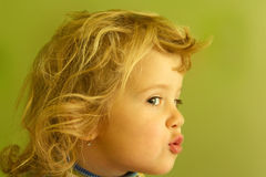 Portrait cute blonde girl Stock Photography