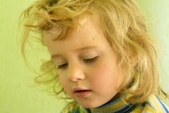 Portrait cute blonde girl Royalty Free Stock Images