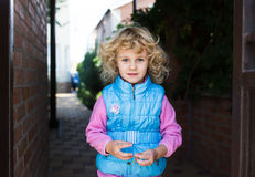 Portrait of cute blonde little girl Royalty Free Stock Photography
