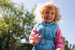 Portrait of cute blonde little girl Royalty Free Stock Photos