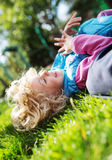 Portrait of cute blonde little girl Royalty Free Stock Images
