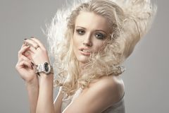 Portrait of a cute blondie Royalty Free Stock Images