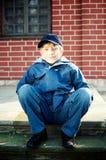 Portrait of a cute boy royalty free stock photo