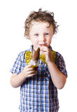 Boy eating Easter egg Royalty Free Stock Photo