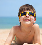 Portrait of cute boy Royalty Free Stock Images