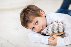 Portrait of cute boy Royalty Free Stock Image