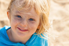 Portrait of cute boy outdoors Royalty Free Stock Image