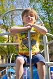 Portrait cute boy on the playground Stock Images