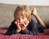 Portrait of cute boy Stock Photo