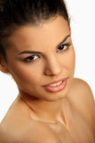 Portrait of a cute brunette Stock Photo