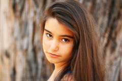 Portrait of a cute brunette girl Royalty Free Stock Photo