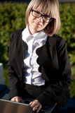 Portrait of a cute business woman Royalty Free Stock Photo