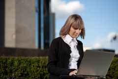 Portrait of a cute business woman Stock Images