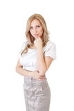 Portrait of a cute  business woman Royalty Free Stock Image