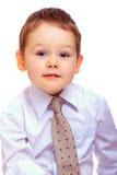Portrait of cute businesslike baby boy Stock Photo