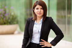 Portrait of cute businesswoman Royalty Free Stock Images