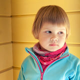 Portrait of cute Caucasian blond girl Stock Photos