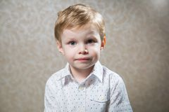 Portrait of cute caucasian little boy Stock Photo