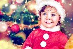 Portrait of a cute, charming elf girl. Portrait of a little cute, charming elf girl Stock Photos