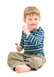 Portrait cute cheerful boy Royalty Free Stock Photography