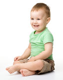 Portrait of a cute cheerful little boy Stock Photography