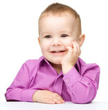 Portrait of a cute and cheerful little boy Royalty Free Stock Images