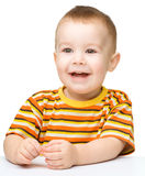 Portrait of a cute cheerful little boy Stock Images