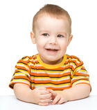 Portrait of a cute and cheerful little boy Royalty Free Stock Photography