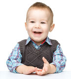 Portrait of a cute and cheerful little boy Royalty Free Stock Photos