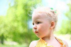 Portrait of a cute child girl Royalty Free Stock Image