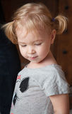 Portrait of cute child with a sad glance Royalty Free Stock Photography