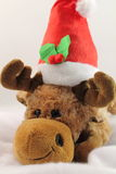 Portrait of cute christmas reindeer plush in studio Stock Photos