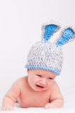 Baby in a funny hat Royalty Free Stock Photos